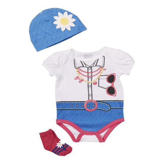 Baby Mode Fashion Necklace 3-Piece Onesie Set - 7758 - Assorted