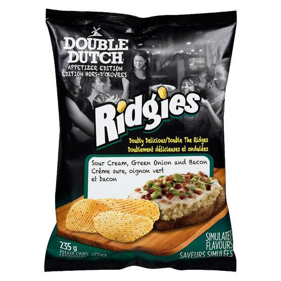 Double Dutch Ridgies Potato Chips - Sour Cream & Onion - 235g