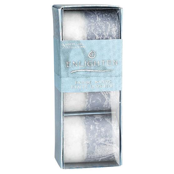 Enlighten Mini Pillar Candles - Tradewinds - 3 pack