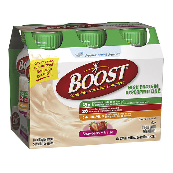 Boost High Protein Meal Replacement - Strawberry - 6 x 237ml
