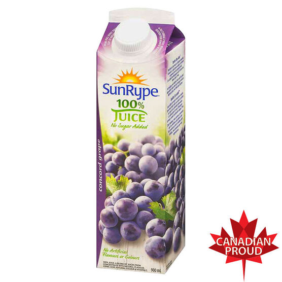 SunRype Concord Fruit Juice - Grape - 900ml