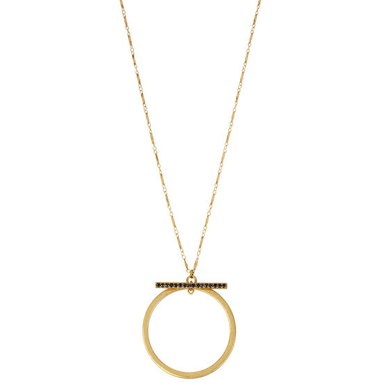Kenneth Cole Circle Pendant Necklace - Gold
