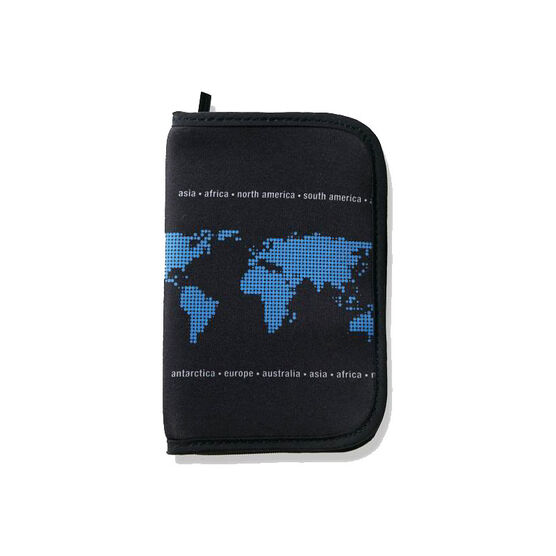 Orb RFID Blocking Passport Wallet - Earth - Grey/Blue - WP524-GBL