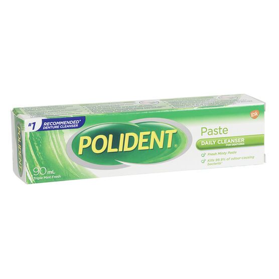 Polident Denture Cleanser Paste - Mint Fresh - 90ml