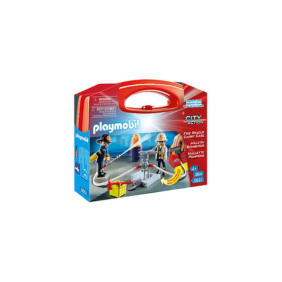 Playmobil City Action - Fire Rescue Carry Case - Large