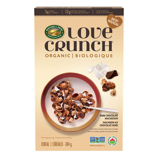 Nature's Path Love Crunch Cereal - Dark Chocolate Macaroon - 284g