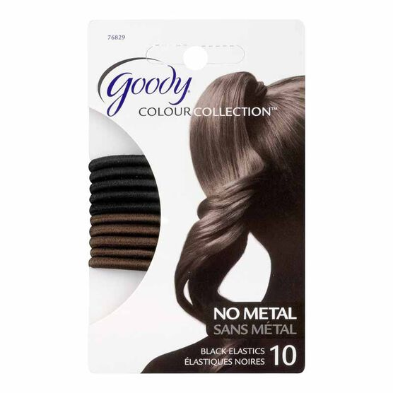 Goody Colour Collection Elastic - 4mm Black - 10 pack