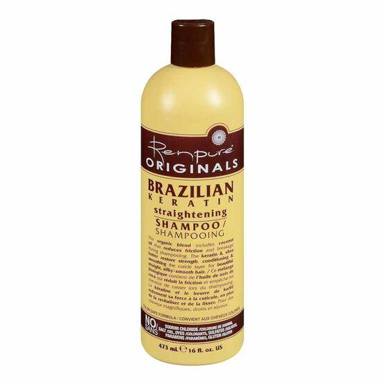 Renpure Originals Brazilian Keratin Straightening Shampoo - 473ml