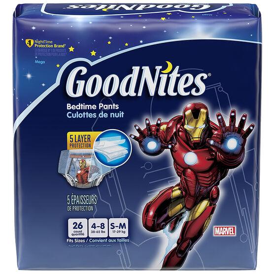 GoodNites Underwear for Boys - Small/Medium - 26's
