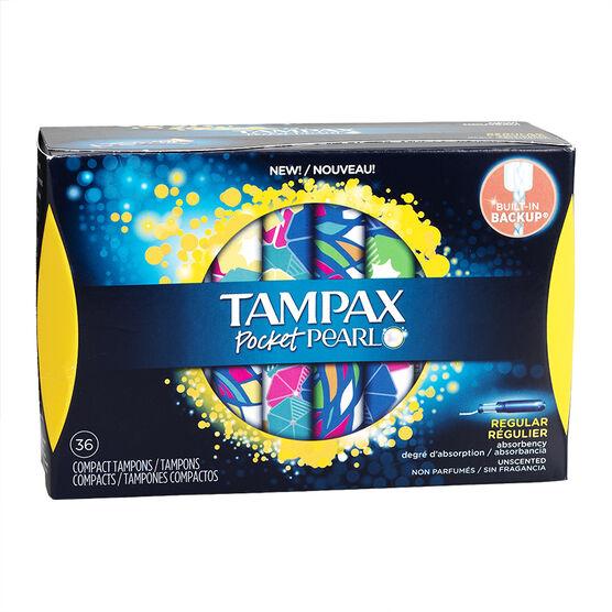 Tampax Pocket Pearl Compact Tampons - Regular - 36's