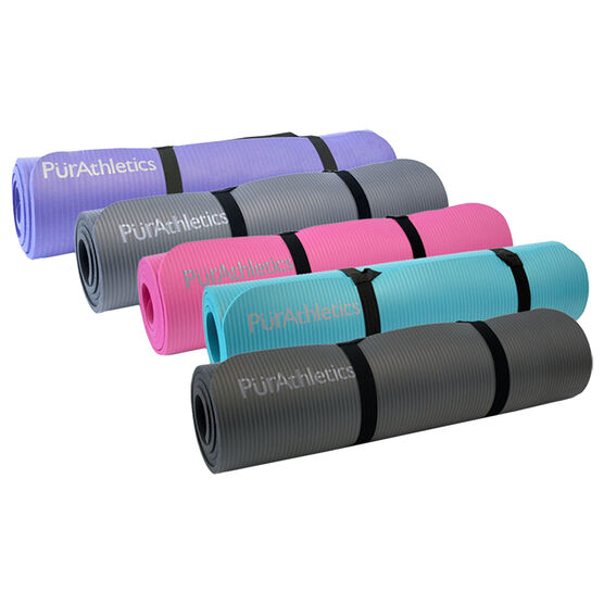 PurAthletics Exercise and Pilates 10mm Mat - 9.4 x 23.6cm