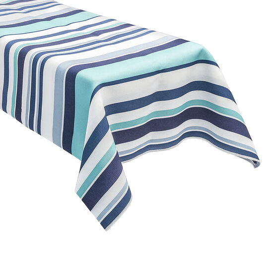 Table Trends Cruise Table Cloth - Aqua - 52 x 70in