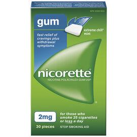 Nicorette Gum - Extreme Chill Mint - 2mg - 30's