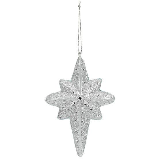 Polar Ice Glass Finial Star Ornament - 5.7in
