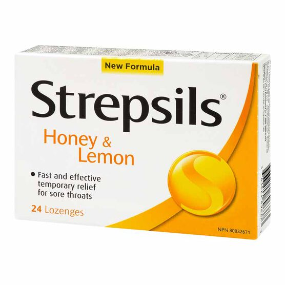 Strepsils Lozenges - Honey & Lemon - 24's
