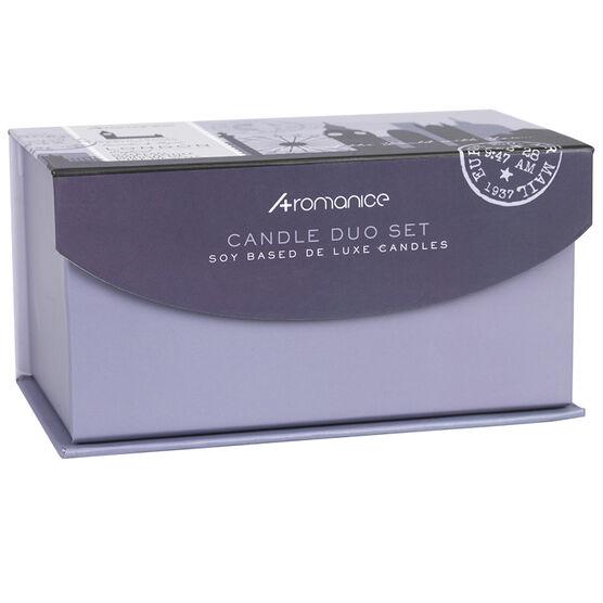 Aromanice Candle Set London - Lavender Thyme - 2 piece