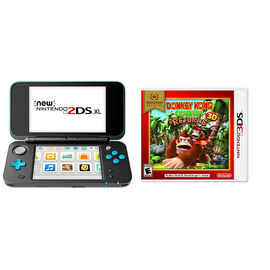 Nintendo New 2DSXL Gaming Console Bundle - Donkey Kong Country Returns