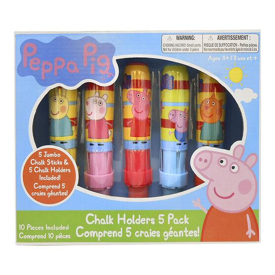 Peppa Pig Jumbo Chalk Holder - 5 pack