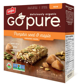 Leclerc Go Pure Organic Bars - Pumpkin Maple - 5 Pack