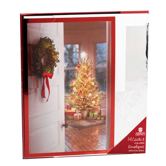 Plus Mark Premium Christmas Cards - Holiday Wreath - 14 count - Assorted