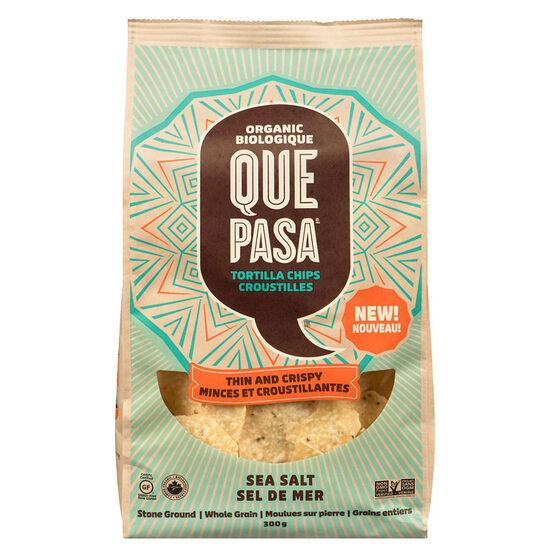 Ques Pasa Tortilla Chips - Thin and Crispy - Sea Salt - 300g