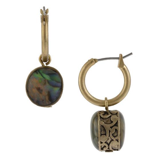 Kenneth Cole Hoop Drop Earrings - Gold Tone