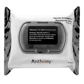Anthony Glycolic Exfoliating & Resurfacing Wipes - 30's