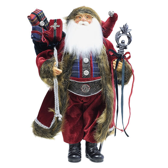 Christmas Santa Standing with Gifts - 18in