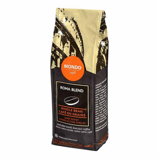 Mondo Cafe Roma Whole Bean Coffee - Dark Roast - 454g