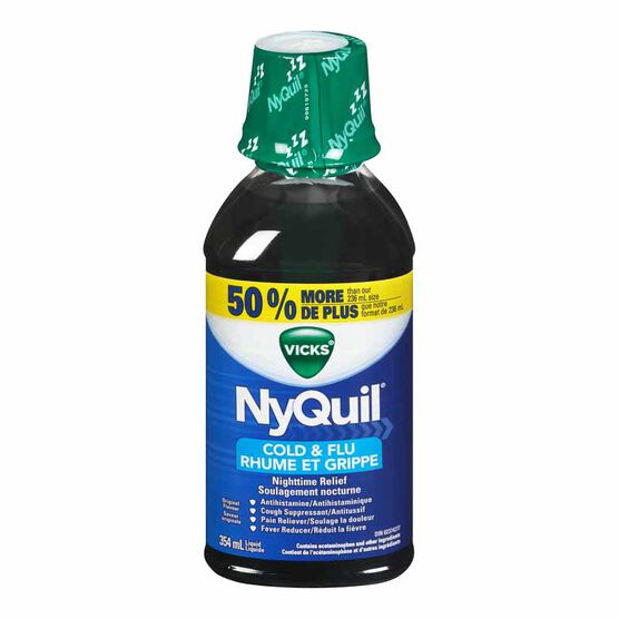 Vicks Nyquil Liquid for Cold and Flu - Original -354ml