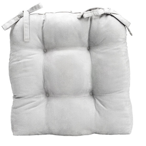 London Drugs Faux Suede Chair Pad - Silver