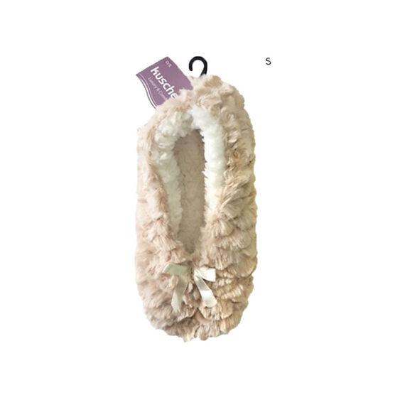 Kuschel Fluffy Slippers - Beige - One Size
