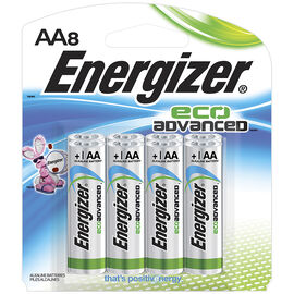 Energizer Eco Advance Battery - AA - 8 pack