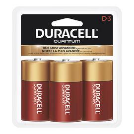 Duracell Quantum D Batteries - 3 pack