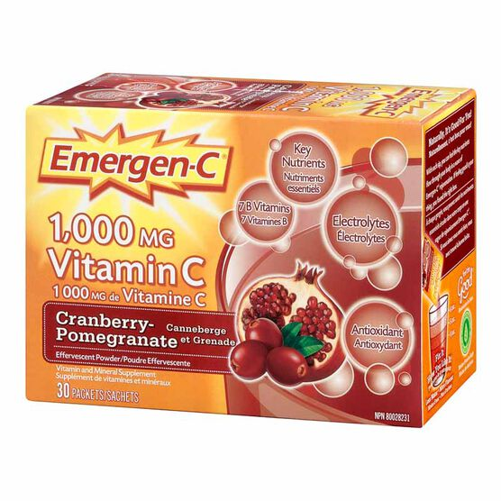 Emergen-C - Cranberry Pomegranate  - 30's