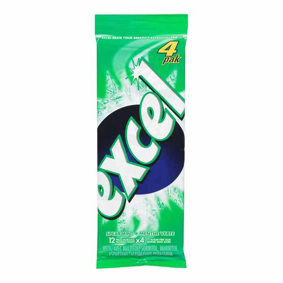 Excel Gum - Spearmint - 4 pack