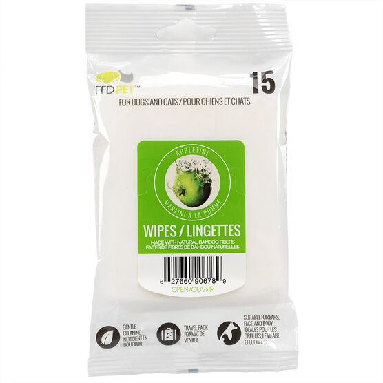 FouFou Pet Wipes - Appletini - 15's