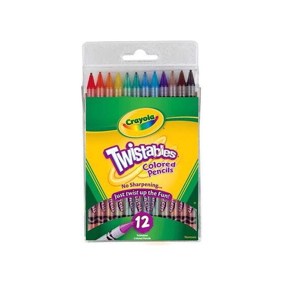 Crayola Twistable Colour Pencils - 12 pack