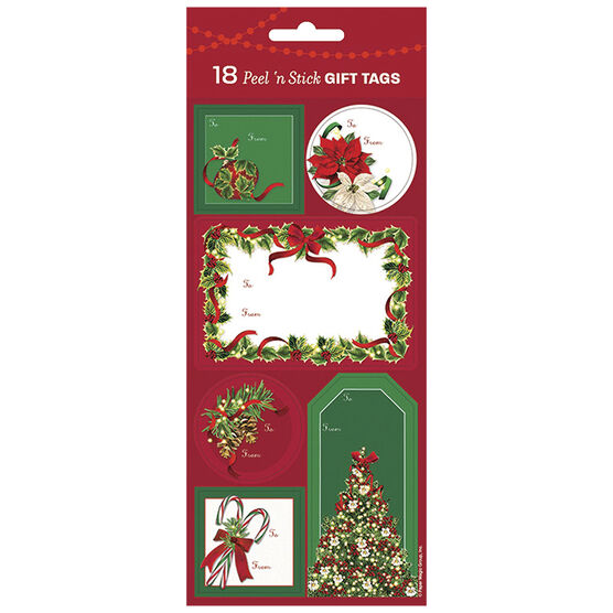 Christmas Botanical Holiday Gift Tags - 18s