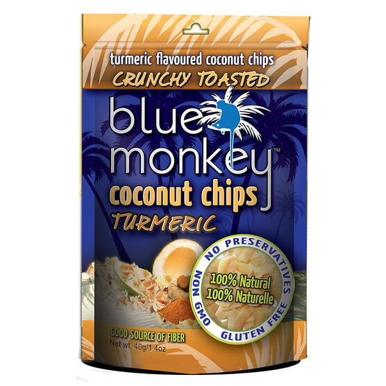 Blue Monkey Coconut Chips - Turmeric - 40g