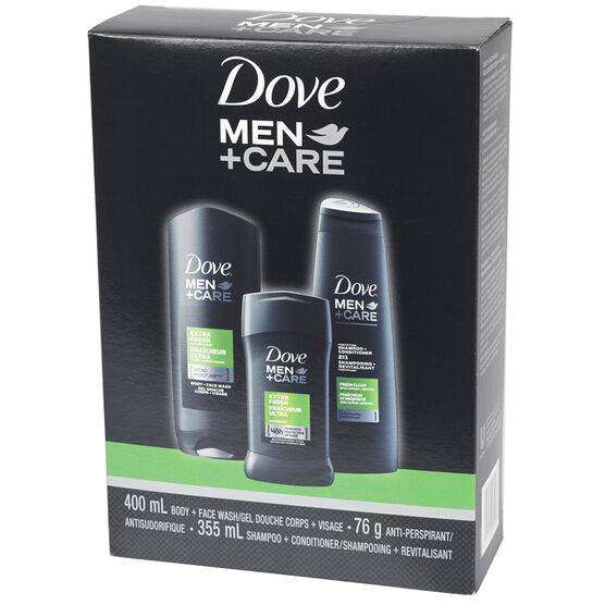 Dove Men+Care Extra Fresh Gift Pack - 3 piece