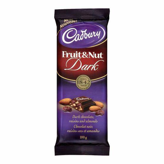 Cadbury Bar - Fruit & Nut Dark - 100g