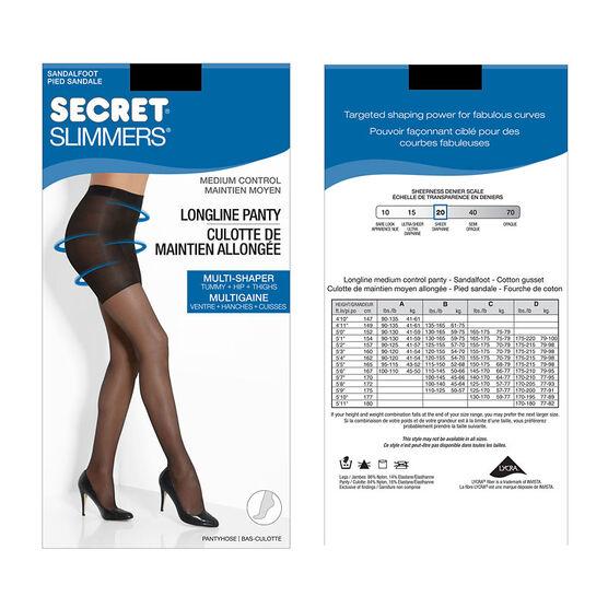 Secret Slimmers Control Top Longline Pantyhose