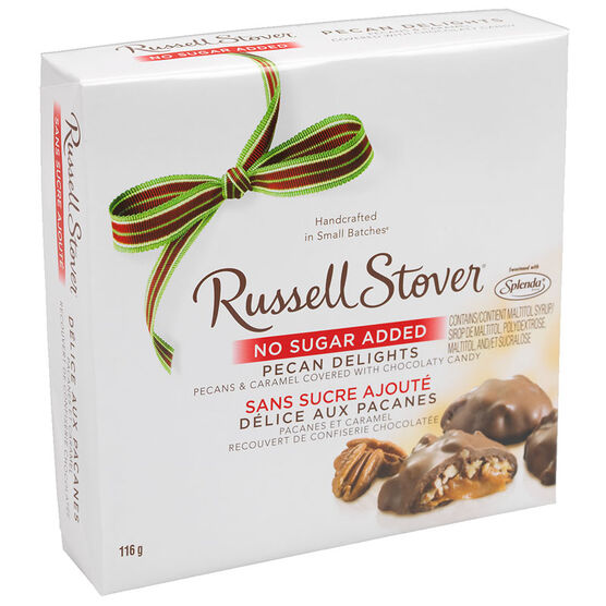 Russell Stover Pecan Delight - No Sugar Added - 116g