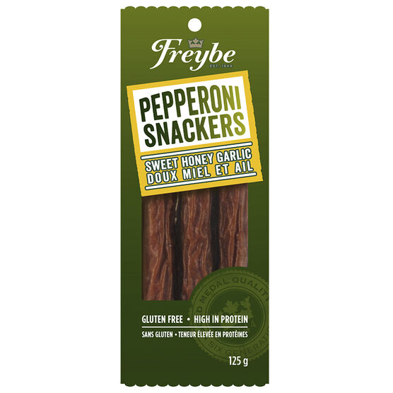 Freybe Pepperoni Snackers - Honey Garlic - 125g