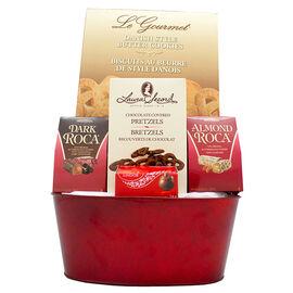 LE Gourmet Red Basket Set