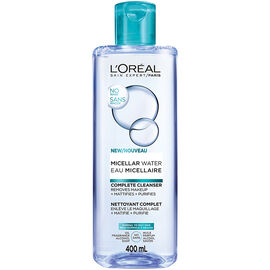L'Oreal Micellar Water Complete Cleanser - Normal to Oily Skin - 400ml