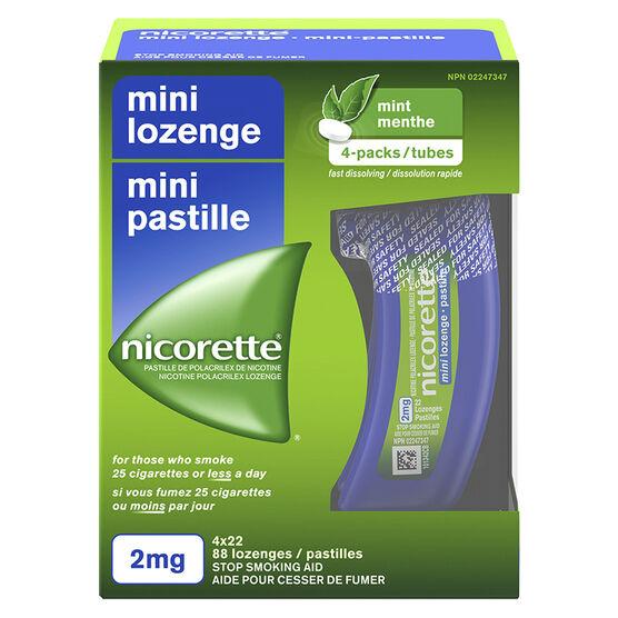 Nicorette Mini Lozenges - Mint - 2mg - 88's