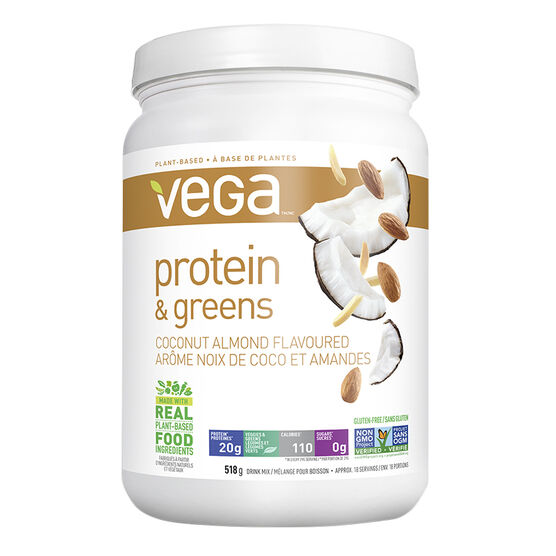 Vega Protein & Greens Drink Mix - Coconut Almond - 518g