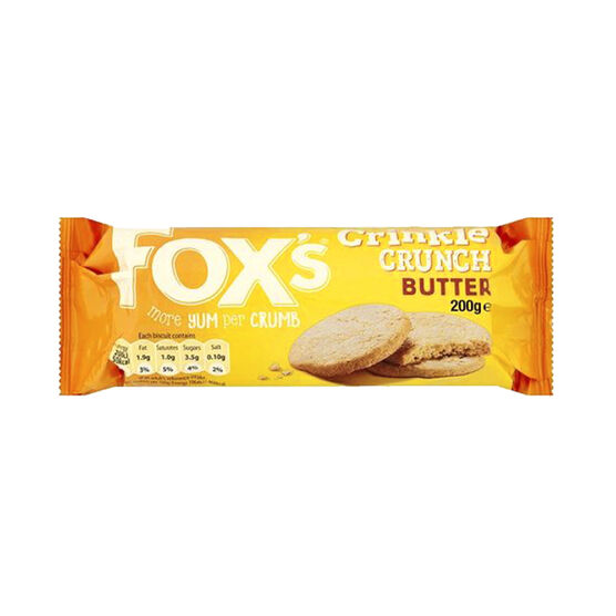 Fox's Crinkle Crunch Biscuit - Butter - 200g